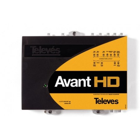 CENTRAL AVANT HD BI/III/DAB-FM-10 UHF-SAT TELEVES 5328