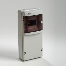 Caja automaticos superficie estanca 6 elementos+zocalo Ide CS6PT