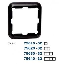Marco 3 elementos negro Serie 75 Simon 75630-32