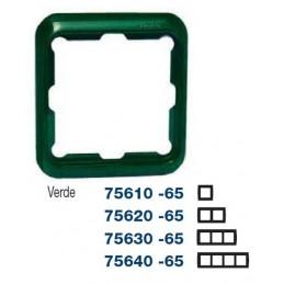 Marco 4 elementos verde Serie 75 Simon 75640-65
