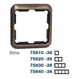 Marco 4 elementos bronce Serie 75 Simon 75640-36