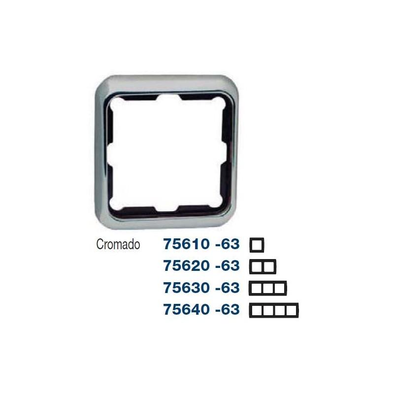 MARCO 2 ELEMENTOS CROMADO SIMON 75620-63
