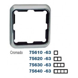 Marco 3 elementos cromado Serie 75 Simon 75630-63