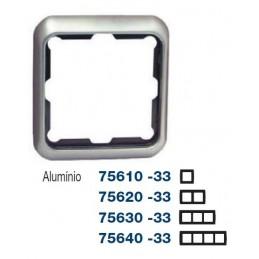 Marco 1 elemento aluminio Serie 75 Simon 75610-33