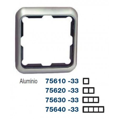 MARCO 3 ELEMENTOS ALUMINIO SIMON 75630-33
