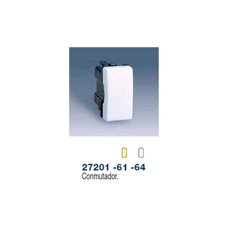 Conmutador estrecho marfil Simon 27201-61