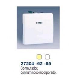 CONMUTADOR ANCHO MARFIL CON LUMINOSO INCORPORADO SIMON 27204-62