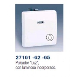 PULSADOR ANCHO MARFIL SIMBOLO LUZ CON LUMINOSO INCORPORADO SIMON 27161-62