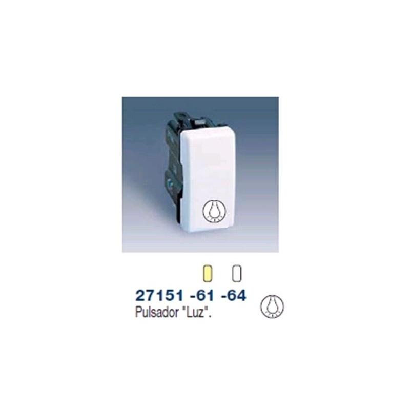Pulsador luz escalera simbolo luz estrecho marfil simon - Pulsadores de luz ...
