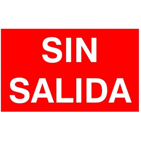 ETIQUETA AUTOADHESIVA SEÑALIZACION SIN SALIDA NORMALUX N-SS