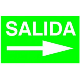 Etiqueta Adhesiva SALIDA FLECHA DERECHA Normalux N-FD