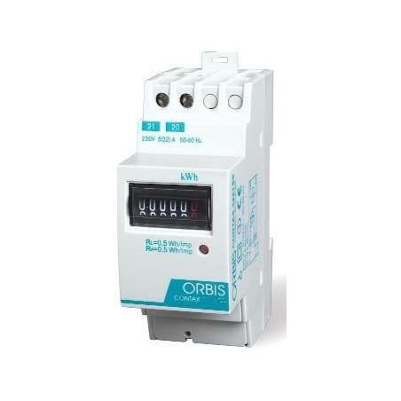 CONTADOR MONOFASICO DE ENERGIA 230V 65AMP  ORBIS CONTAX 6521 S0