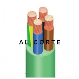 Manguera 1000v 5x2.5mm2 flexible libre halogenos RZ1-K AS 0,6/1KV Al Corte