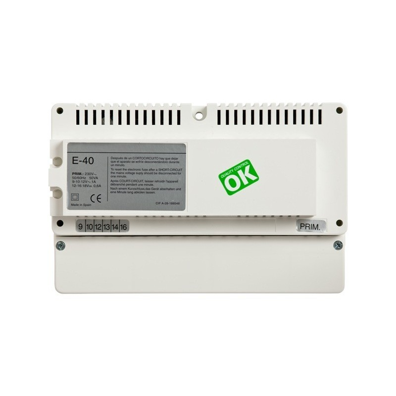 Alimentador E40 para videoportero convencional Tegui 375009