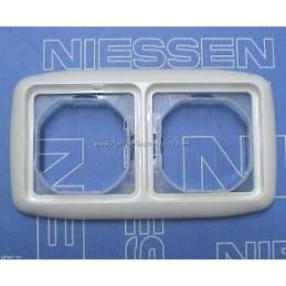 Marco 2 elementos estanco IP44 blanco Niessen 8772BA