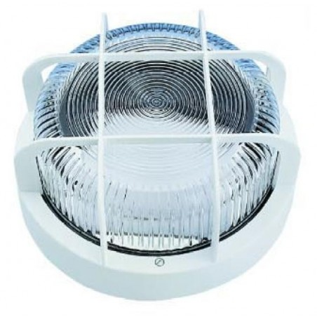 APLIQUE ESTANCO 100W E-27 BLANCO REDONDO IP44
