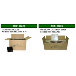 40 Cajas de registro de empotrar 150x150x50mm con tapa Seavi