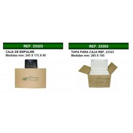 20 Cajas de registro de empotrar 245x175x60mm con tapa Seavi
