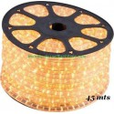 TUBO LUMINOSO AMARILLO MOVIMIENTO 2 HILOS FLEXILIGHT BOBINA 45 MTS