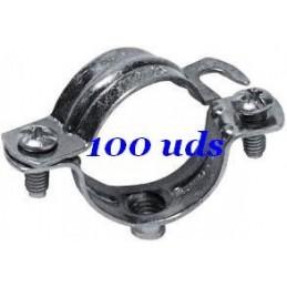 ABRAZADERA METALICA L25 9B25NK APOLO PACK 100 UNIDADES