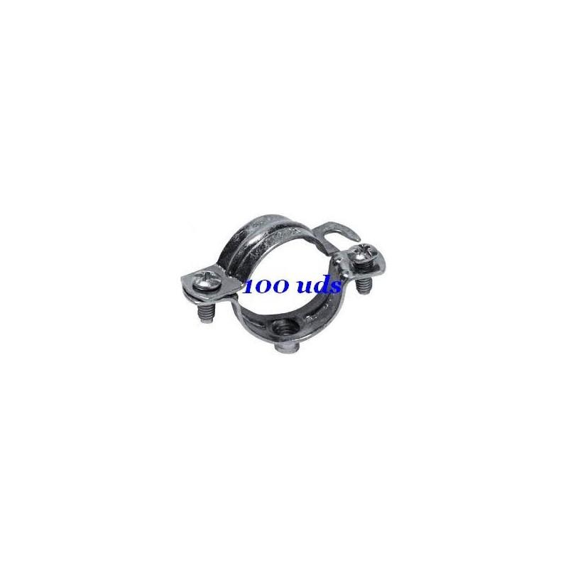 Abrazaderas metalicas para tubo 25mm NOKE Apolo 925NK Caja 100 Unidades
