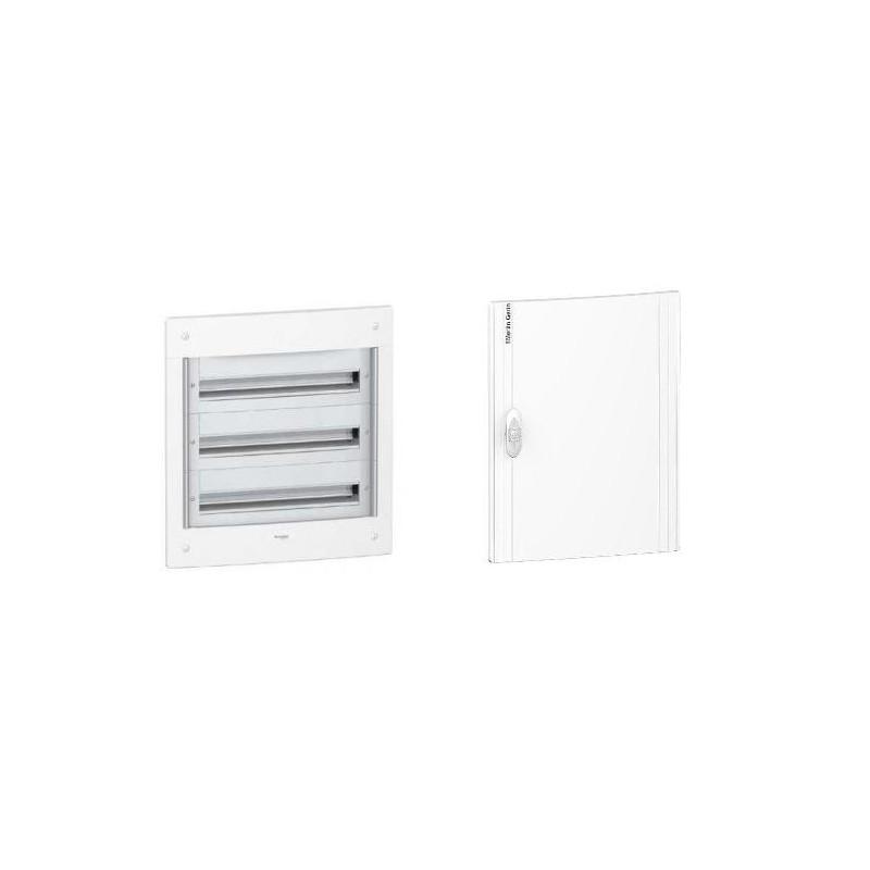 Caja automaticos empotrar 3 filas 39 elementos puerta opaca Schneider Electric