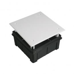 Caja de registro de empotrar 100x100x50mm con tapa Seavi