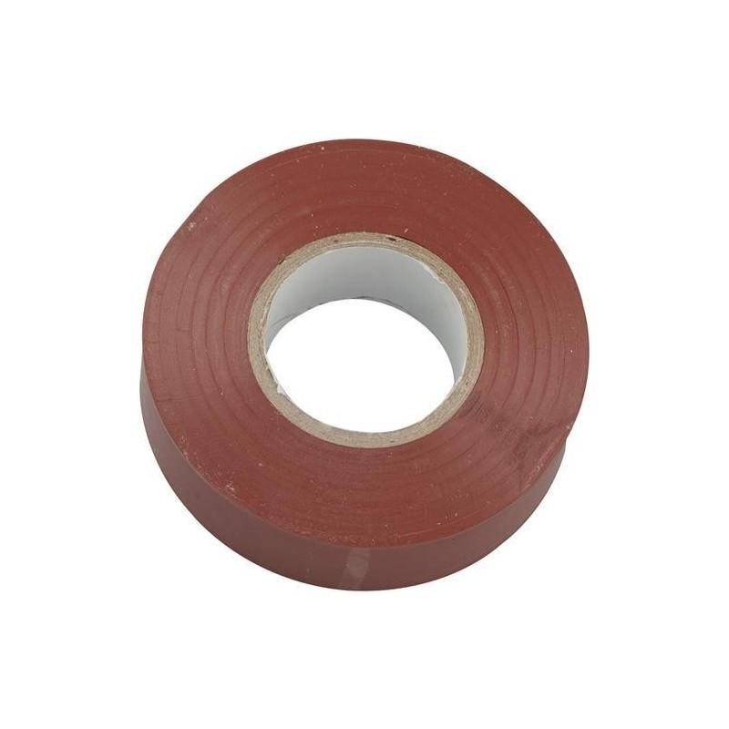 Cinta aislante adhesiva marron 20 m x 19 mm