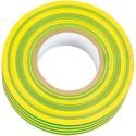 Cinta aislante adhesiva amarillo verde 20 m x 19mm