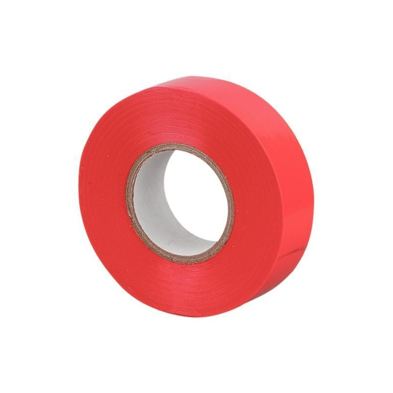 Cinta aislante adhesiva roja 20 m x 19 mm