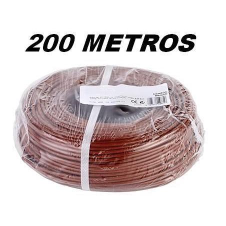 CABLE FLEXIBLE 1x1.5 mm2 MARRON LIBRE HALOGENOS 750V (Rollo 200 Mts)