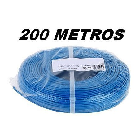 CABLE FLEXIBLE 1x2.5 mm2 AZUL LIBRE HALOGENOS 750V (Rollo 200 Mts)