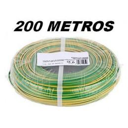 Cable flexible 1x2.5mm2 tierra libre halogenos 750v 200 Metros