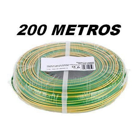 CABLE FLEXIBLE 1x2.5 mm2 TIERRA LIBRE HALOGENOS 750V (Rollo 200 Mts)