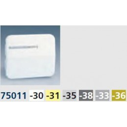 Tecla interruptor conmutador cruze con visor ancha aluminio mate Serie 75 Simon 75011-33
