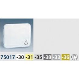 Tecla pulsador timbre ancha gris Serie 75 Simon 75017-35