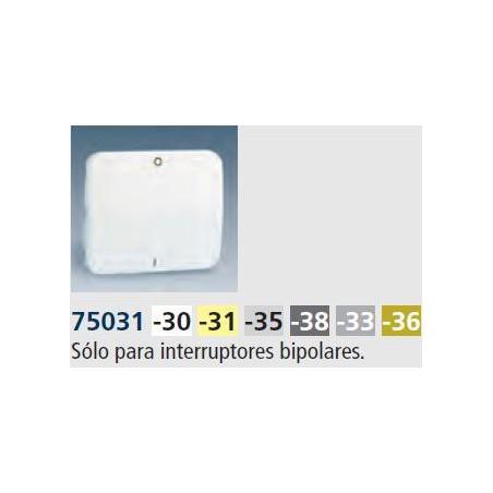 TECLA ANCHA BRONCE PARA INTERRUPTOR BIPOLAR SIMON 75031-36