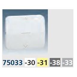 Tecla interruptor persiana ancha aluminio mate Serie 75 Simon 75033-33