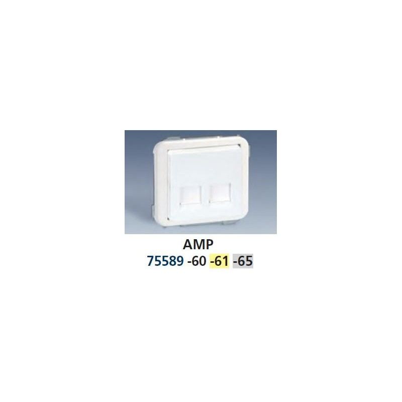 TECLA ANCHA GRIS PARA 2 CONECTORES AMP SIMON 75589-65