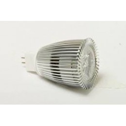 Bombilla dicroica led 9w mr16 12v ac 60 Grados blanco calido 3000k 550lm Solbright 1024