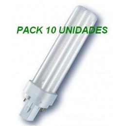 10 Bombillas bajo consumo G24 26W 840 Luz Blanco Neutro Laes
