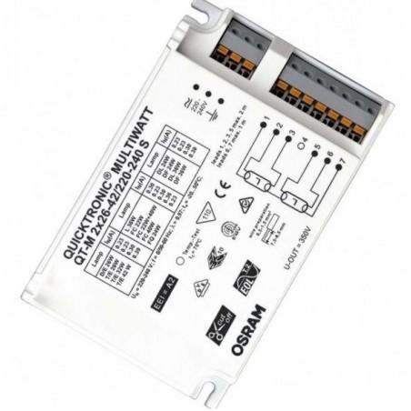 BALASTO FLUORESCENTE 2X26/42W ELECTRONICO OSRAM QUICKTRONIC MULTIWATT QT-M