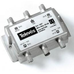 Mezclador Repartidor señales satelite 3 Entradas 2 Salidas 5-2400Mhz Televes 7407