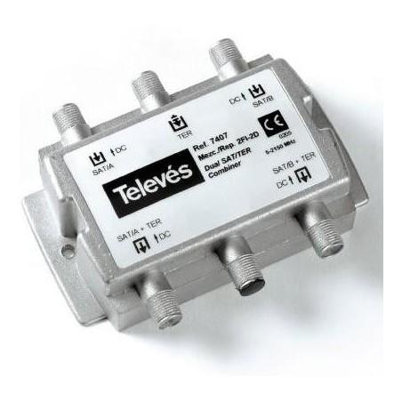 MEZCLADOR-REPARTIDOR 2FI-2D 3E/2S 5-2400Mhz TELEVES 7407