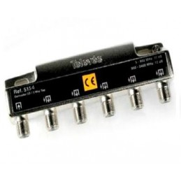 Pau Repartidor 4 Salidas conector F 5-2400 7,5/9db Televes 5154