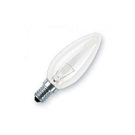 LAMPARA VELA LISA CLARA E14 25W 230V PRILUX
