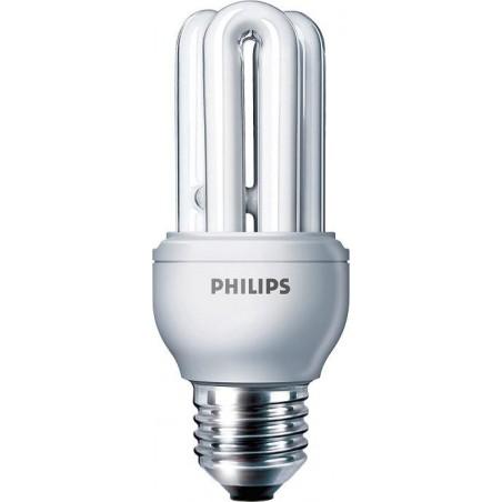 LAMPARA FLUORESCENTE BAJO CONSUMO 11W 230V E27 600LUM LUZ BLANCO CALIDO 2700K PHILIPS 80116610