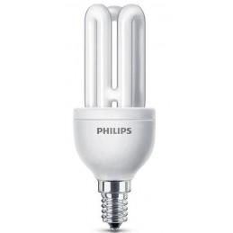 LAMPARA FLUORESCENTE BAJO CONSUMO 11W 230V E14 600LUM LUZ BLANCO CALIDO 2700K PHILIPS 80116610