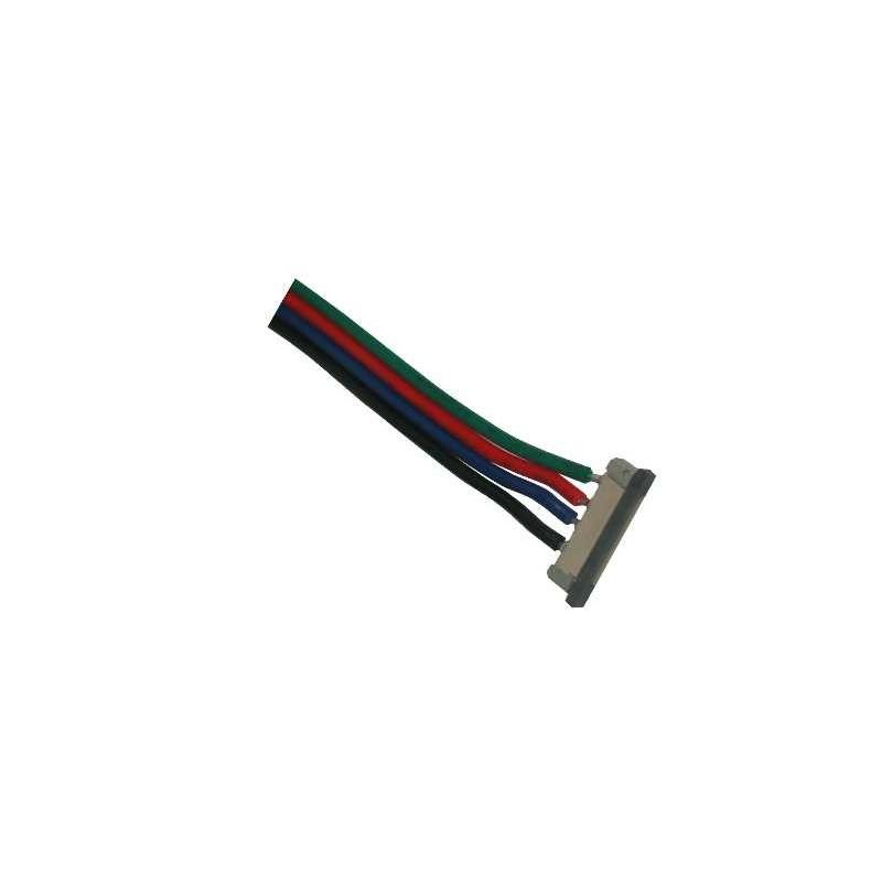 Conector inicio para tiras de leds RGB Agfri 15291