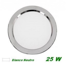 Downlight Led 25w Plata Luz Blanco Neutro 4000K Cifralux 102320NP